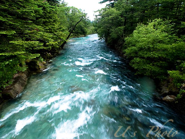 田代橋からの梓川