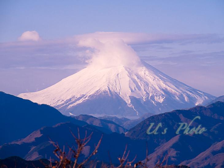 高尾山山頂からの富士山