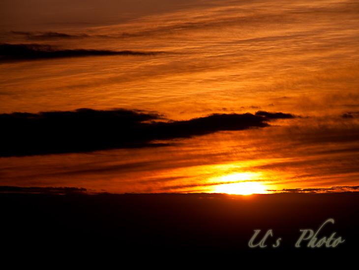 高尾山、琴平台からの日の出
